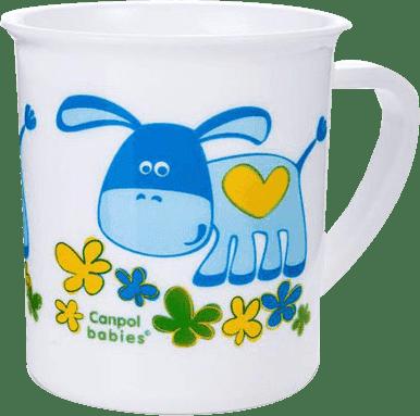 CANPOL Babies Plastový hrnček - oslík