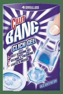 CILLIT BANG WC Click Gel Svěžest moře 4 ks