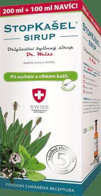 STOPKAŠEL sirup Dr. Weiss SWISS + selén 200 + 100ml NAVYŠE