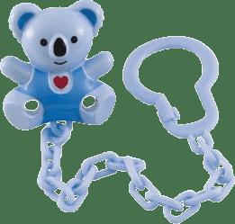 CANPOL Babies Retiazka na cumlík medvedík so srdiečkom - modrá