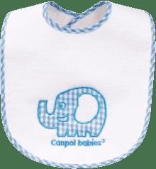 CANPOL Babies Bryndák froté/EVA folie slon/králík suchý zip – slon