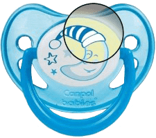CANPOL Babies B - Cumlík silik. anatomické 6-18 m Night Dreams - modré