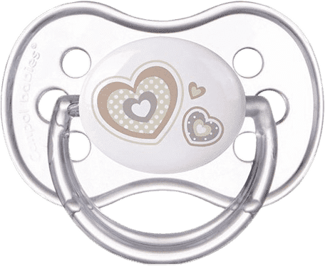 CANPOL Šidítko silikonové třešinka 6-18m NEWBORN BABY – bílé