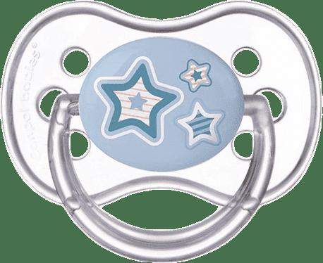 CANPOL Cumlík silikónové čerešnička 18 m + NEWBORN BABY - modré