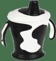 CANPOL Babies Nevylévací hrnček kravička- čierna 250 ml