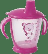 CANPOL Babies Nevylévací hrníček Teddy Friend- růžový 180 ml
