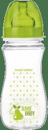 CANPOL Babies Fľaša EasyStart Fruits 300 ml bez BPA- zelená