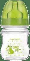 CANPOL Babies Láhev EasyStart Fruits 120ml bez BPA- zelená