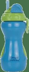 CANPOL Babies Láhev sportovní se skládací slámkou- modrá 320 ml
