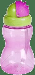 CANPOL Babies Láhev sportovní se slámkou malá- růžová 270 ml