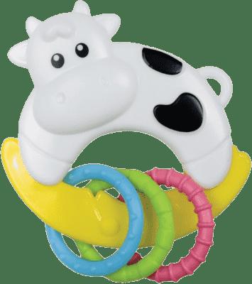 CANPOL Babies Hrkálka zvieratko s krúžkami - krava
