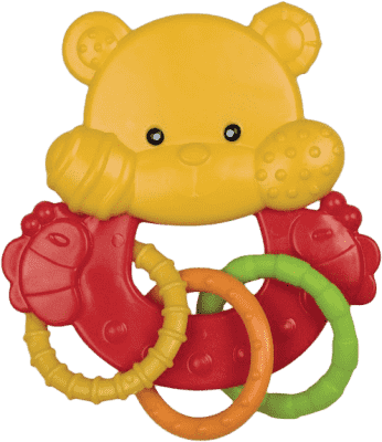 CANPOL Babies Hrkálka zvieratko s krúžkami - macko