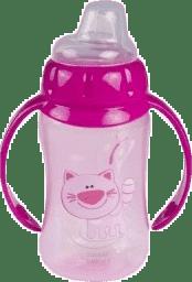 CANPOL Babies Tréninkový hrníček s úchyty- růžová 320 ml