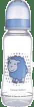 CANPOL Babies Fľaša s potlačou 250 ml 0% BPA- svetlo modrá