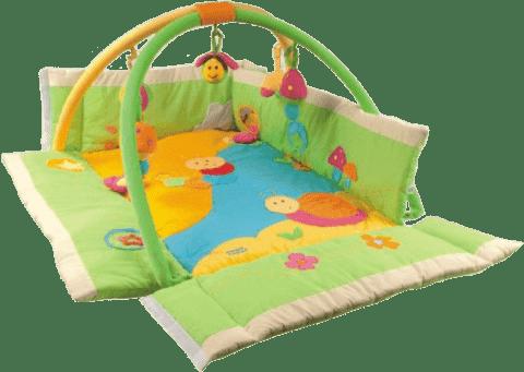 CANPOL Babies Mata edukacyjna z drążkiem WIELOFUNKCYJNA – łąka