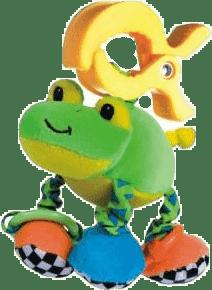 CANPOL Babies Plyšové hrkálka vibrační- žaba