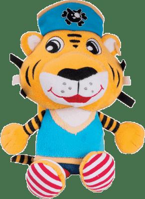 CANPOL Babies Plyšové hrkálka PIRÁTI- tiger