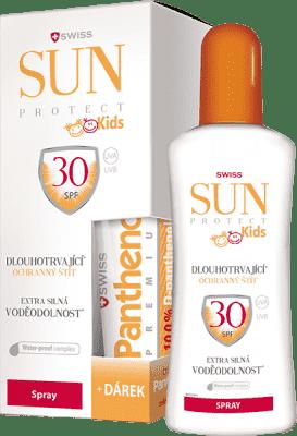 SUNPROTECT Swiss KIDS F30 spray 250ml + Pant. 50ml gratis