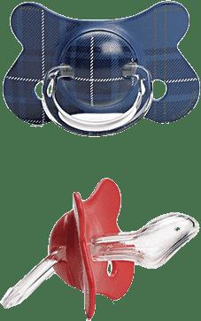 SUAVINEX Fusion cumlík anat.savička + 12m 2 unit - modrý, červený