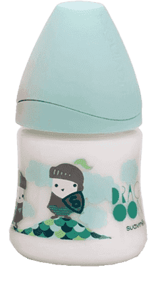 SUAVINEX Butelka z szerokim otworem pp 150 ml lateksowy ustnik smok