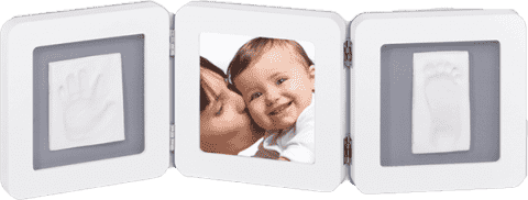 BABY ART Rámček Double Print Frame White & Grey