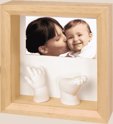 BABY ART Rámeček pro 3D otisk Photo Sculpture Frame Natural