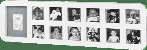 BABY ART Rámček 1st Year Print Frame White / Grey