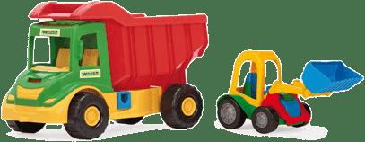 WADER Auto multitruck z ładownikiem plastik 37 cm 2 kolory wiek 1+