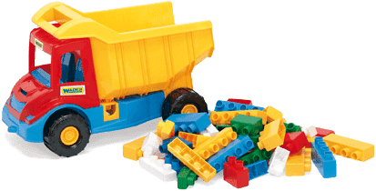 WADER Auto multitruck z klockami plastik 37 cm 2 kolory wiek 1+