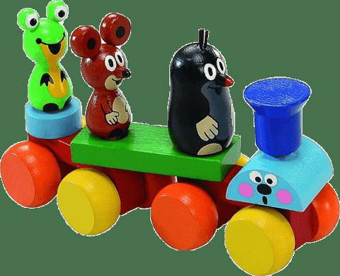 DETOA Vlak Krtek – dřevo