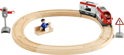 BRIO Kolejka okrągła, pociąg osobowy, 15 części