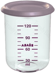 BEABA Kelímek na jídlo 120 ml, světle fialová