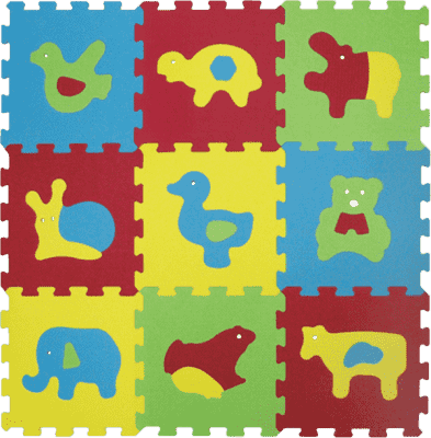 LUDI Puzzle penové 84x84 cm zvieratka Basic