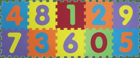 LUDI Puzzle penové 140x56 cm - čísla