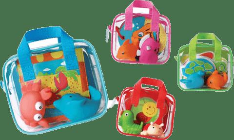 LUDI Hračky a kniha do koupele – zelená