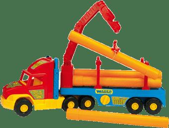 WADER Auto Super Truck stavební s rourami 76 cm - různé barvy