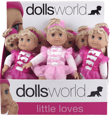 DOLLS WORLD Mała baletnica