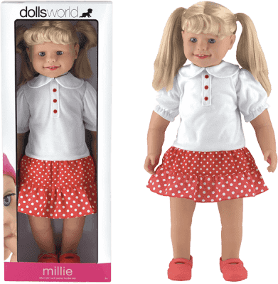 DOLLS WORLD Bábika Millie