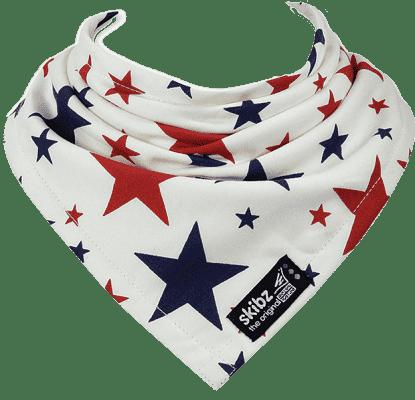SKIBZ Podbradník tkaná bavlna Red&Blue Stars