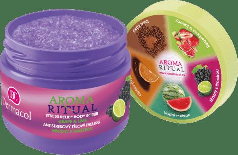 DERMACOL Aroma Ritual - tělový peeling hrozny s limetkou 300 g