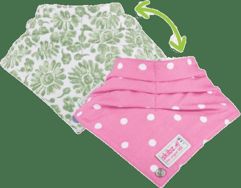 SKIBZ Bryndáček/slintáček Doublez Green/Pink
