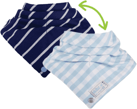 SKIBZ Śliniaczek Doublez Blues Stripes