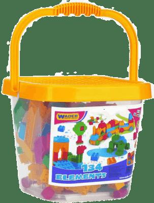 WADER Vedro s plastovými kockami mini 134 ks 3+
