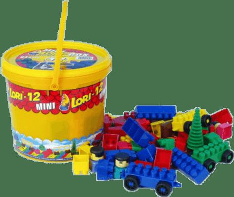 LORI Zestaw klocków LORI 12 – plastik 82szt