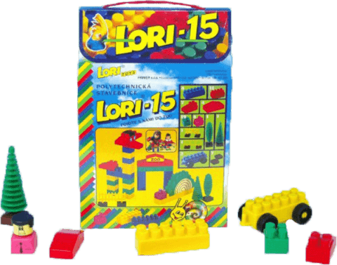 LORI Stavebnice LORI 15 ZOO - plast 62ks
