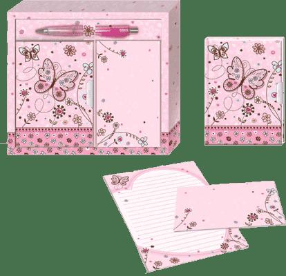 BINO Zestaw prezentowy do pisania listów – motyl