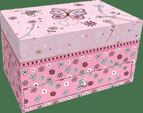 BINO Szkatułka na biżuterię z szufladką – motyl