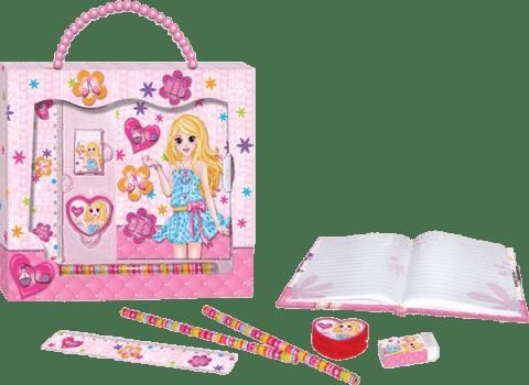 BINO Zestaw prezentowy z organizerem – dziewczynka