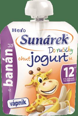 SUNÁREK Do ručičky s banánmi a jogurtom 80g - ovocný príkrm