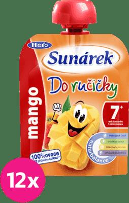 12x SUNÁREK Do ručičky mango 90g - ovocný príkrm
